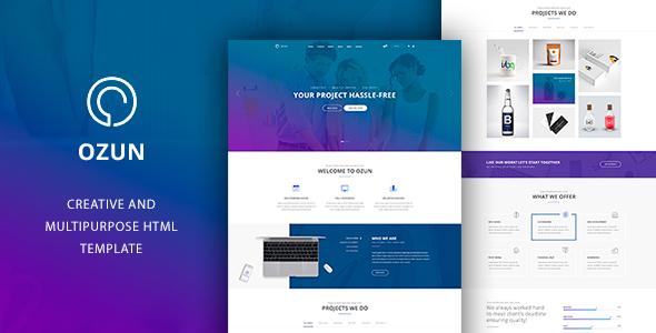 OZUN – Multipurpose HTML Template (Company)