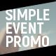 Simple Event Promo