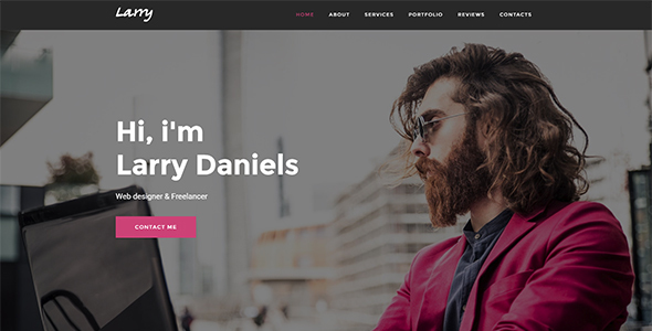 Larry - Personal Onepage Template