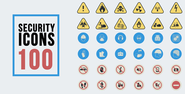 VideoHive 100 Security Signs 19288298