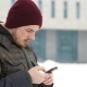 Man Writes Sms Winter in the City