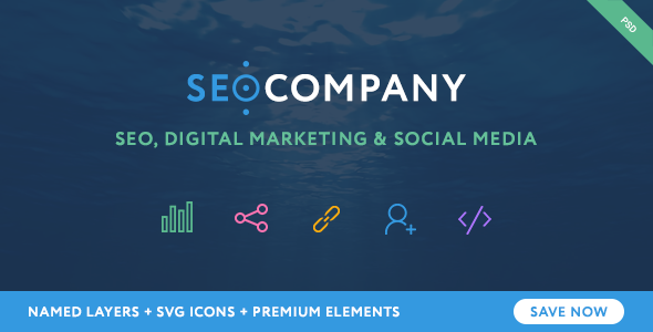 SEO - Seo Company - Seo & Digital Agency PSD Template
