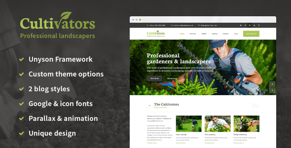 Download Cultivators - WordPress Gardening Design nulled download