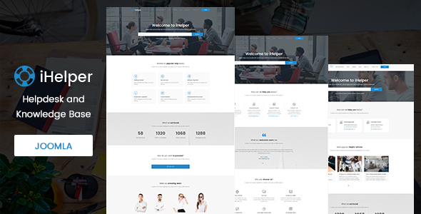 Image of iHelper - Helpdesk and Knowledge Base Joomla Template