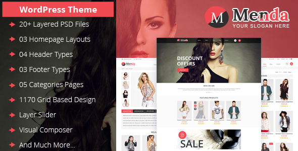 Download Menda eCommerce WordPress Themes nulled download