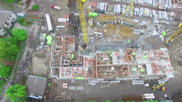 Construction Site In The City Aerial View