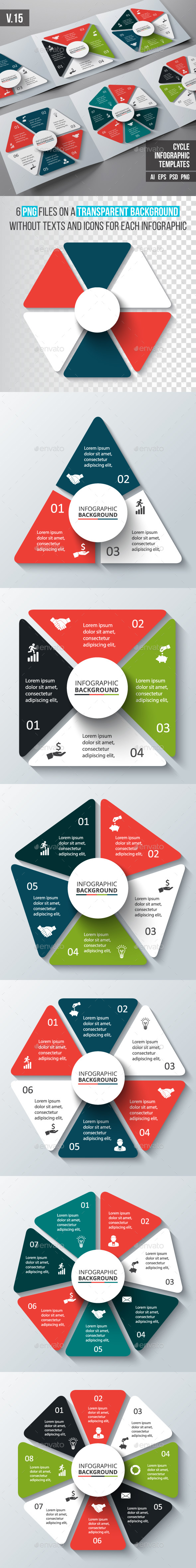 Infographics template set v.15
