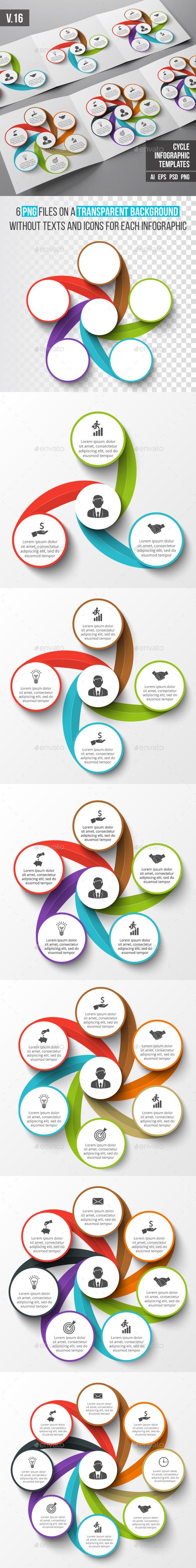 Infographics template set v.16