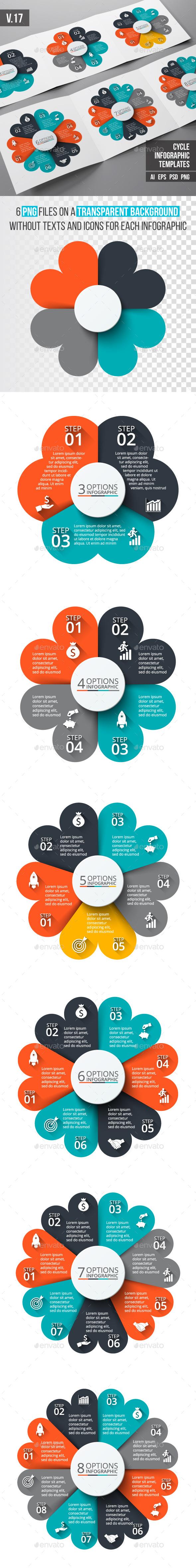Infographics template set v.17