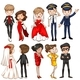 Download Vector People in Different Dresses