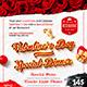 Valentine`s Day Menu Template