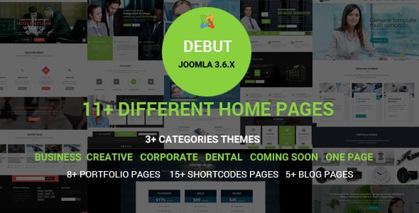 Debut - The Multi-Purpose Responsive Joomla Theme