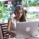 Young Businesswoman Working With Laptop