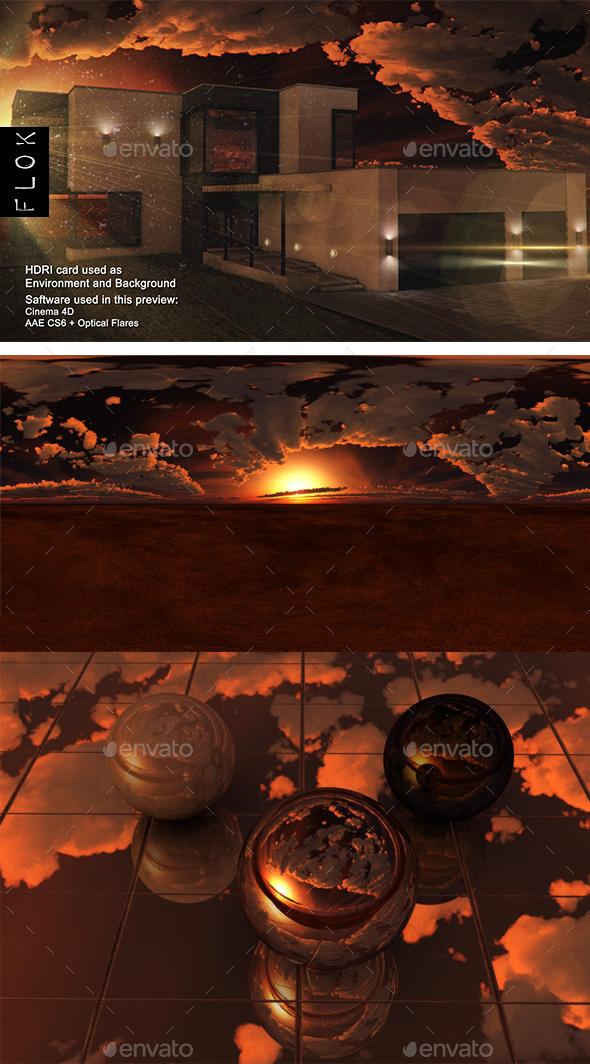 Sunset Desert 85 - 3DOcean Item for Sale