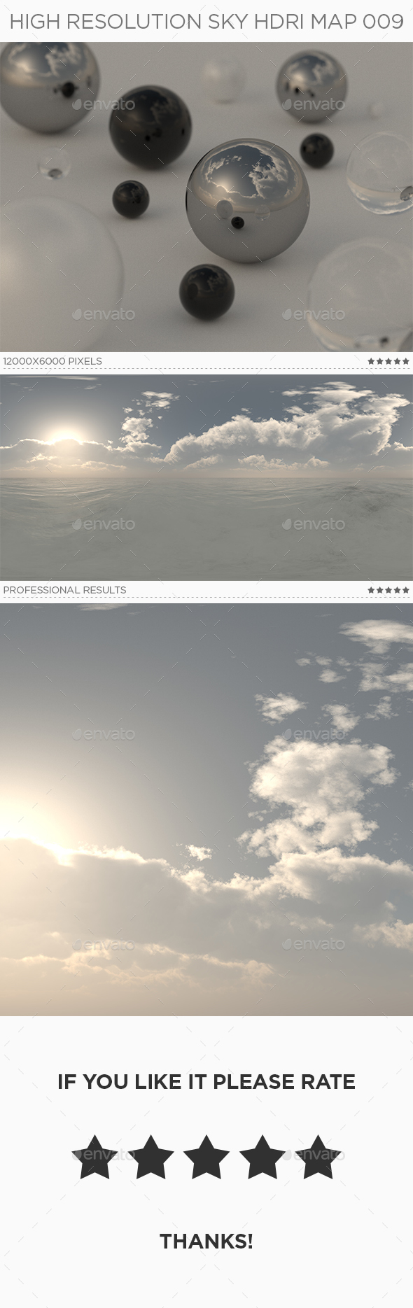 High Resolution Sky HDRi Map 009 - 3DOcean Item for Sale