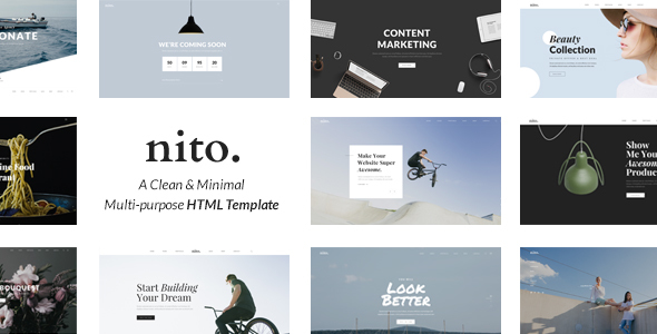 Nito – A Clean & Minimal Multi-purpose HTML Template (Creative) images