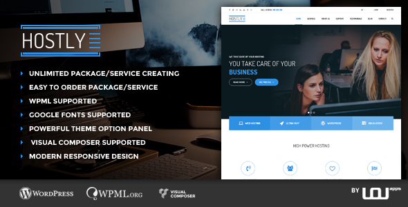 Download Hostly - Hosting & Domain Services Provider WP nulled download
