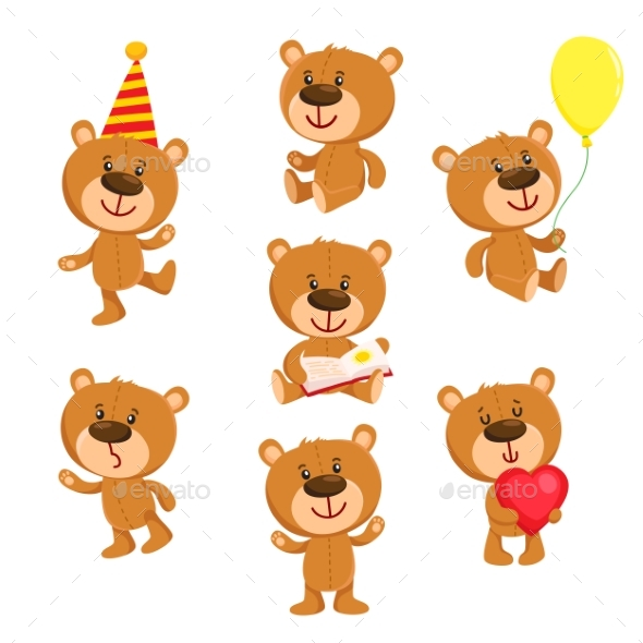 Graphicriver Set of Teddy Bear Character 19291756 torrent
