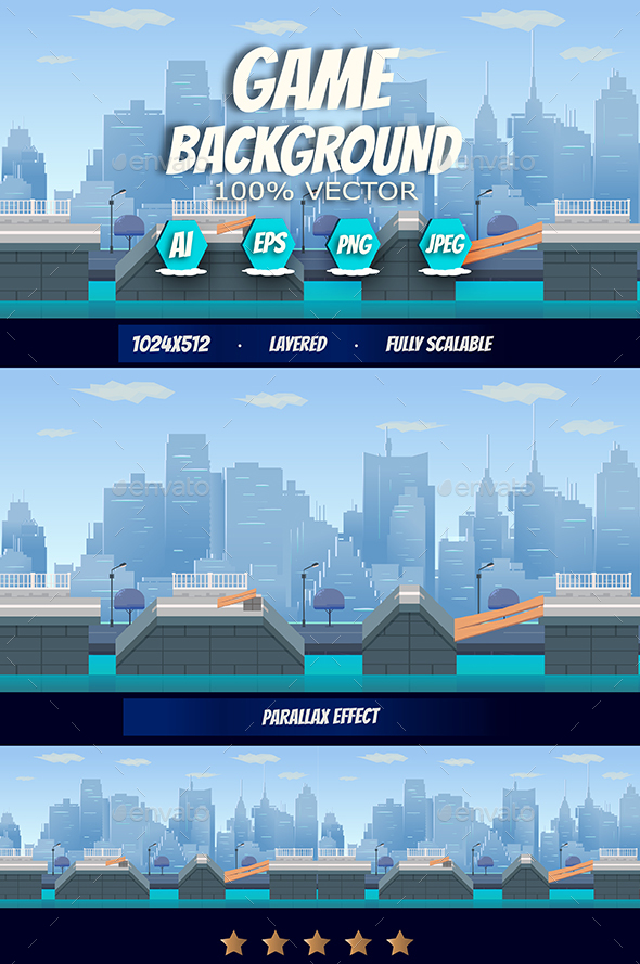 Graphicriver City Game Background 19291804