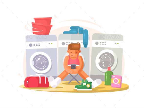 Graphicriver Man in Underwear Waiting Washing 19291854 torrent