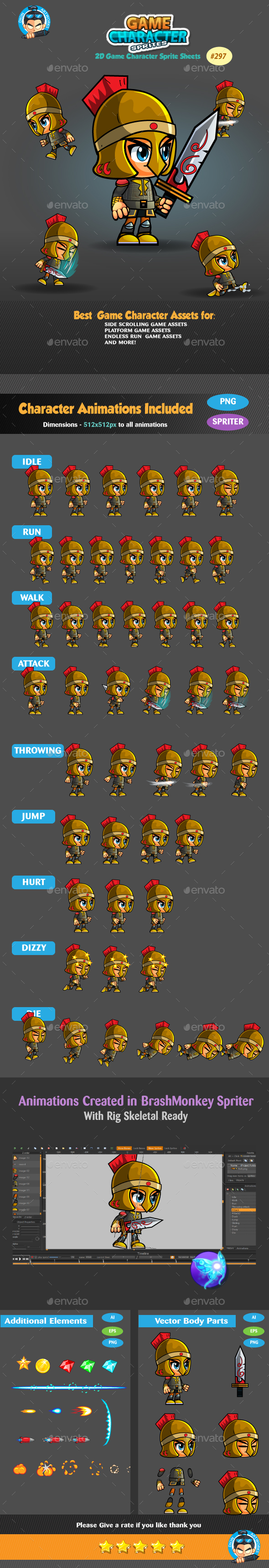Graphicriver Knight 2D Game Character Sprites 297 19291888