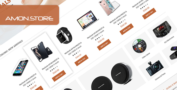 Amon - Multipurpose eCommerce PSD Template