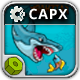 Fat Shark - HTML5 Construct  2 Survival Game