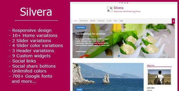 Silvera - Responsive WordPress Blog Theme