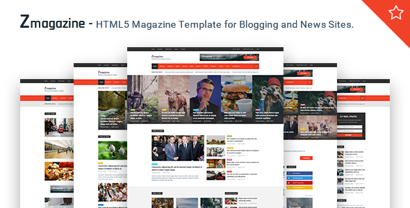 Zmagazine - News, Magazine & Blog HTML Template