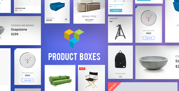 Product Boxes Addons for Visual Composer WordPress Plugin