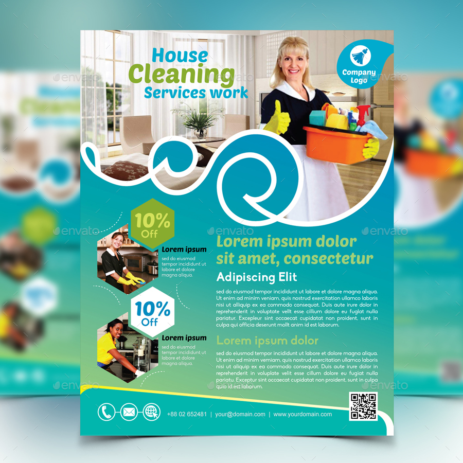 cleaning service flyer by design station graphicriver cleaning service flyer