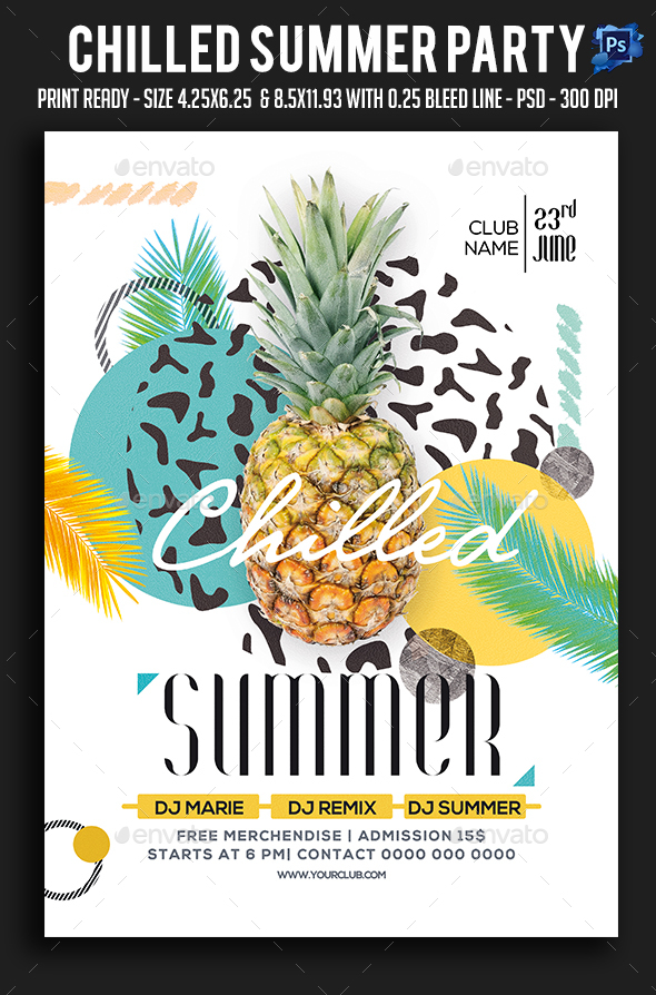 Chilled Summer Party Flyer