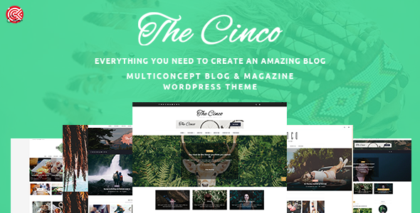 Download Cinco - Multi-Concept Elegant WordPress Blog Theme nulled download