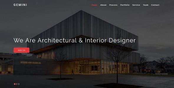 Themeforest GEMINI-Interior and Architecture HTML5 Template 19257557