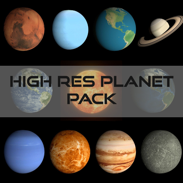 3DOcean HD Planet Pack 19293027