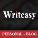 Writeasy Blog - Personal PSD Blog for Writing