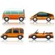 Transportation Set in Orange
