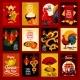 Chinese Lunar New Year Greeting Card Set Design