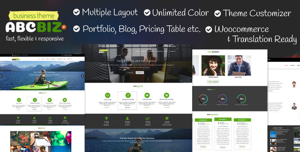 Download Abcbiz - Responsive WordPress Theme For Business nulled download