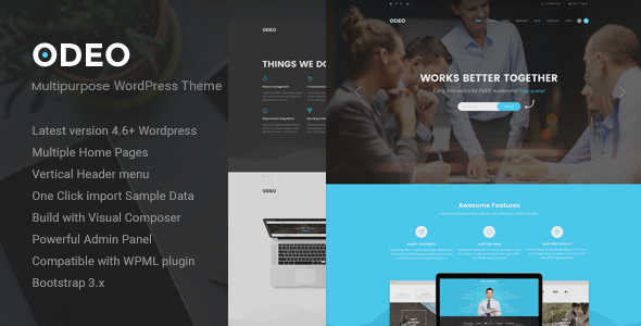 Download ODEO - Multipurpose & Business WordPress Theme nulled download