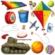 Download Vector Set of Different Colorful Toys
