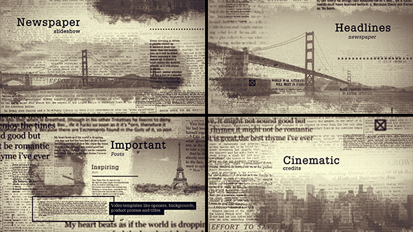 VideoHive Old Newspapers Hedlines 19295064