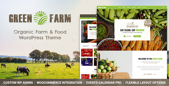 Green Farm – Organic Meals Farm &amp Eco Meals Retailer WordPress Theme (Meals)