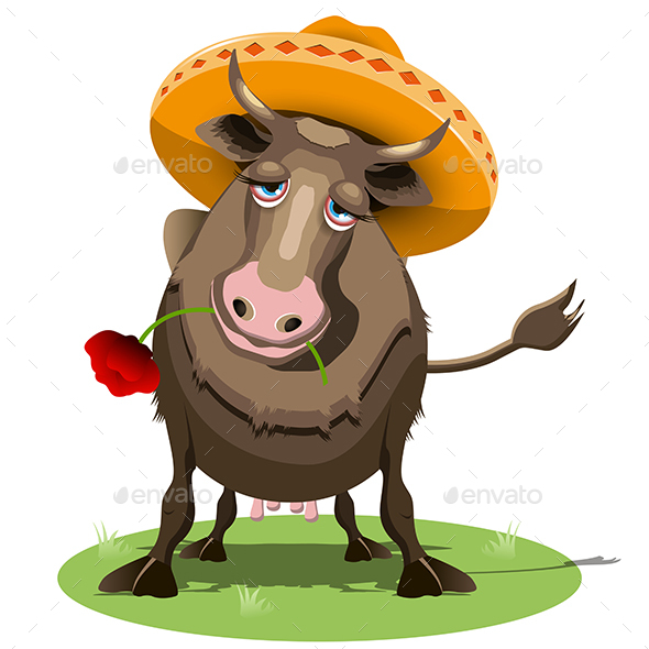 Cow in a Sombrero