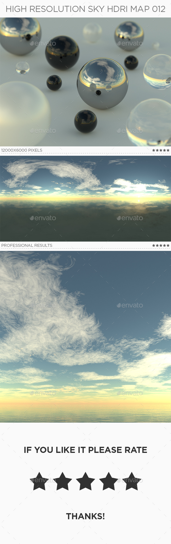 High Resolution Sky HDRi Map 012 - 3DOcean Item for Sale