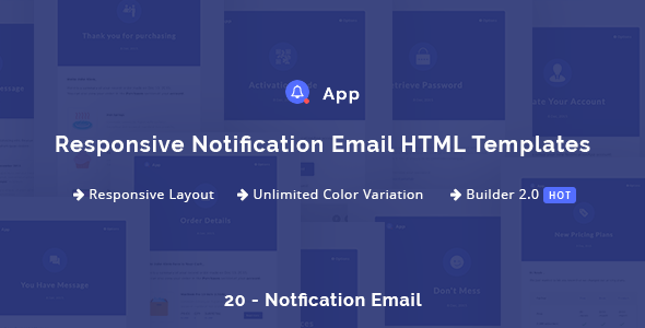 NotificationApp – Responsive Notification E-mail HTML Templates (Newsletters)