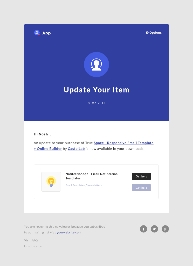 Notificationapp responsive notification email html for It notification email template