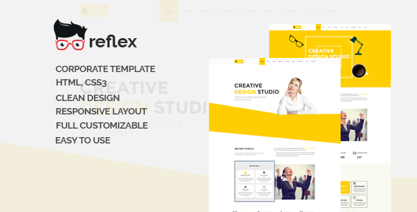 Reflex-One Page Responsive Corporate Template