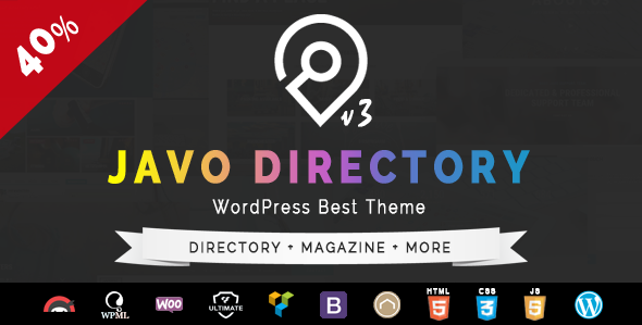 Javo Directory Preview.  large preview - Javo Directory WordPress Theme