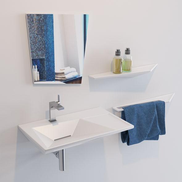 Olympia Crystal Lavabo Washbasin - 3DOcean Item for Sale